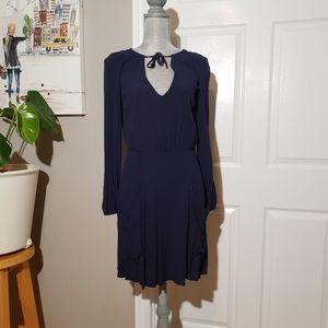 REFORMATION tie neck dress
